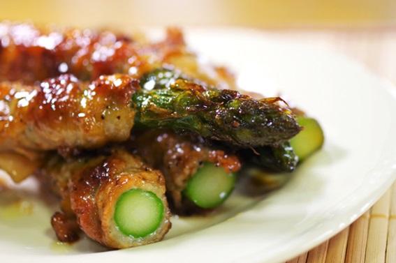 豚肉とアスパラの醤油炒め