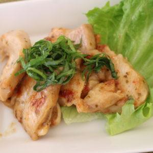 鶏の梅炒め